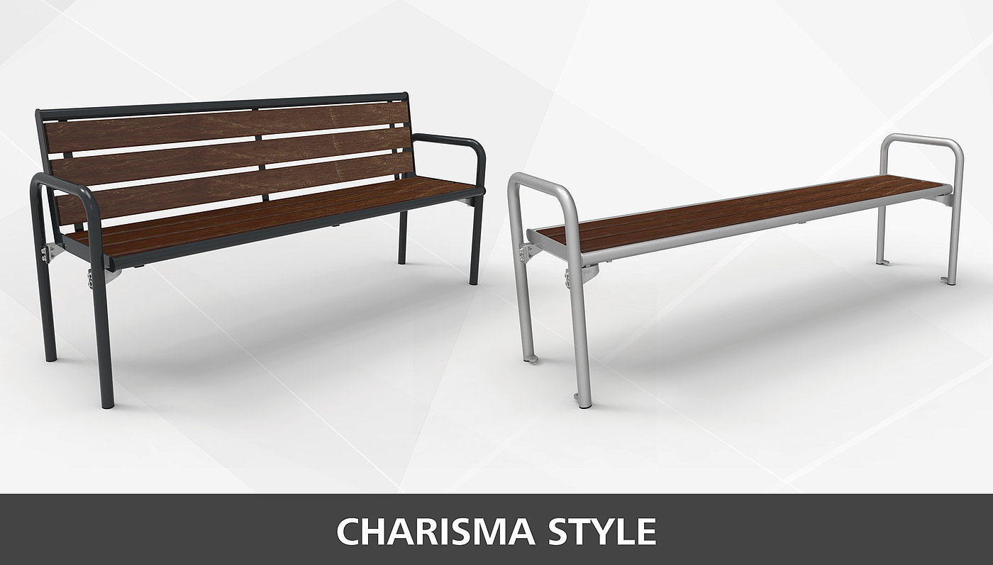 Bank Charisma Style mit Recycling-Kunststoff Sitzfläche