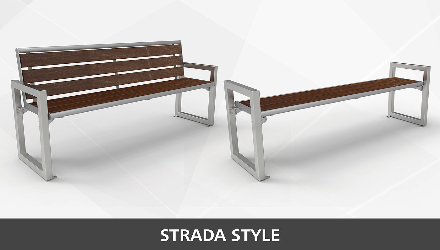 BAnk Strada Recycling-Kunststoff